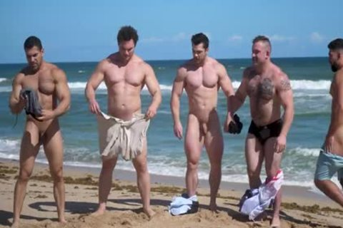 Muscle fellows in nature's garb Beach
